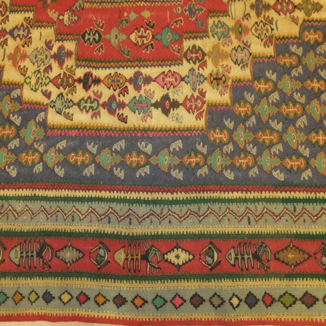 """Persian Kilim - 9'5"""" x 5'7"""" For Sale - Image 4 of 4"""