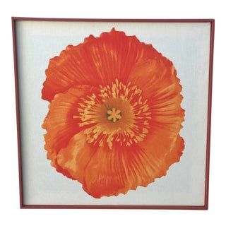 1970s Vintage Modernist Poppy Silk Screen For Sale