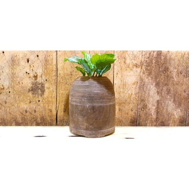 Wood Jeeri Nepalese Tribal Ghee Pot For Sale - Image 7 of 8