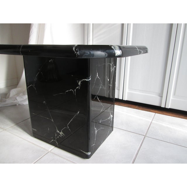 Retro Lacquered Marble Design Side Tables - A Pair - Image 4 of 8