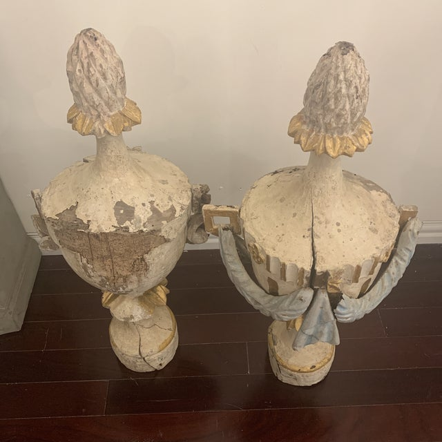 18th Century Antique Portuguese Finials - a Pair For Sale - Image 11 of 13
