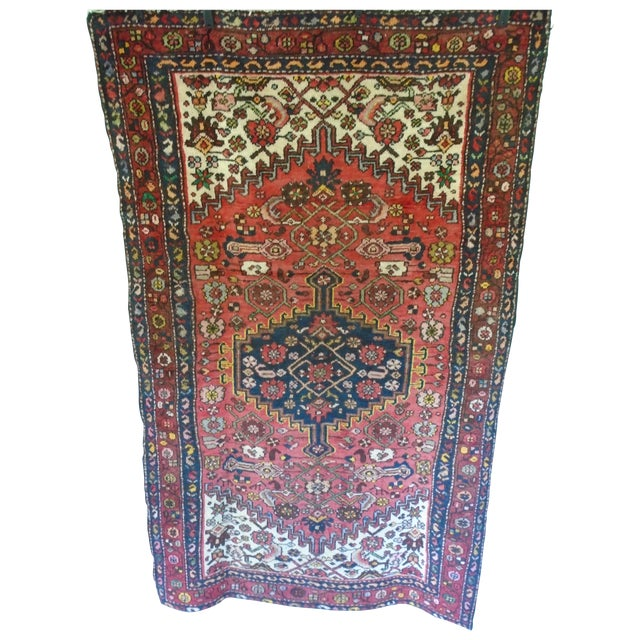 Kurdish Village Antique Persian Rug - 4′2″ × 6′10″ - Image 1 of 7