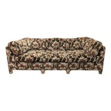 Image of 1970s Century Furniture Boho Upholstered Parsons Style Sofa For Sale