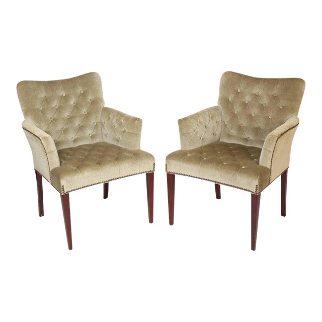 Hickory Furniture Mid-Century Modern Style Bergeres - a Pair - Image 1 of 11