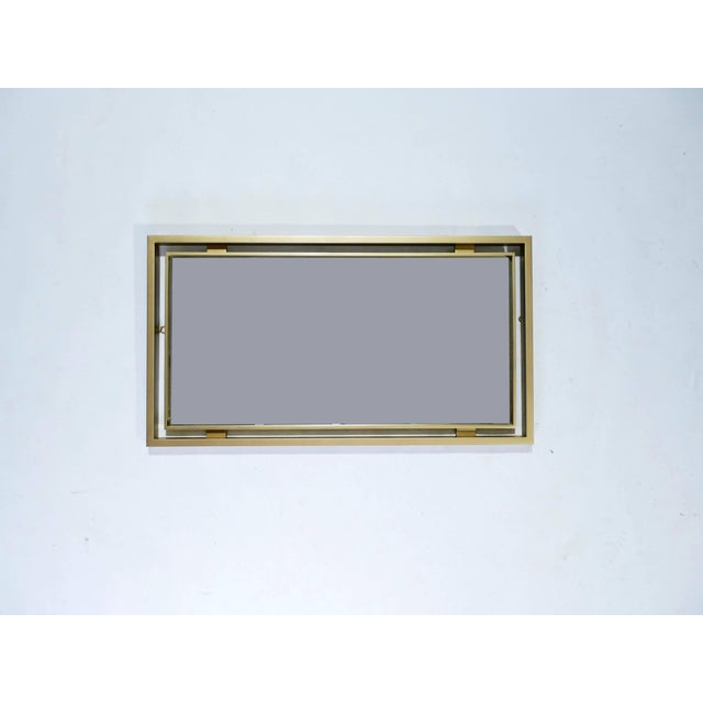 Maison Jansen Brass Mirror by Guy Lefevre for Maison Jansen, 1970s For Sale - Image 4 of 7