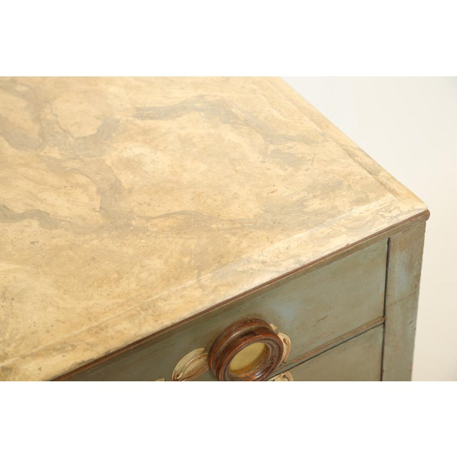Hand-Painted Italian Commode With Églomisé Plaque For Sale In West Palm - Image 6 of 10