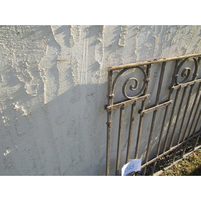 Antique Victorian Iron Gate Window Garden Fence Architectural Salvage Door #025 For Sale - Image 5 of 6