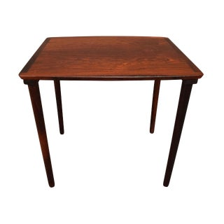 1960s Scandinavian Modern Rosewood Side Table For Sale