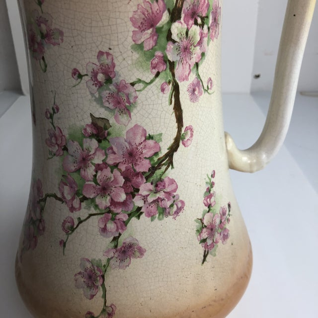 Hand Painted Floral Pitcher For Sale In Denver - Image 6 of 13