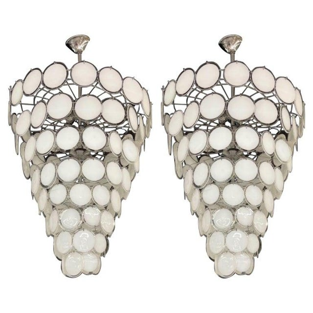 Pair of Mid-Century Modern Style Murano Glass Chandelier For Sale - Image 10 of 10