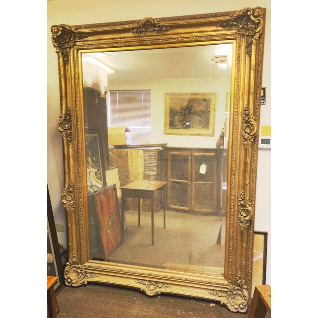 Louis XIV Style Gold Leaf Beveled Glass Mirror For Sale - Image 11 of 11