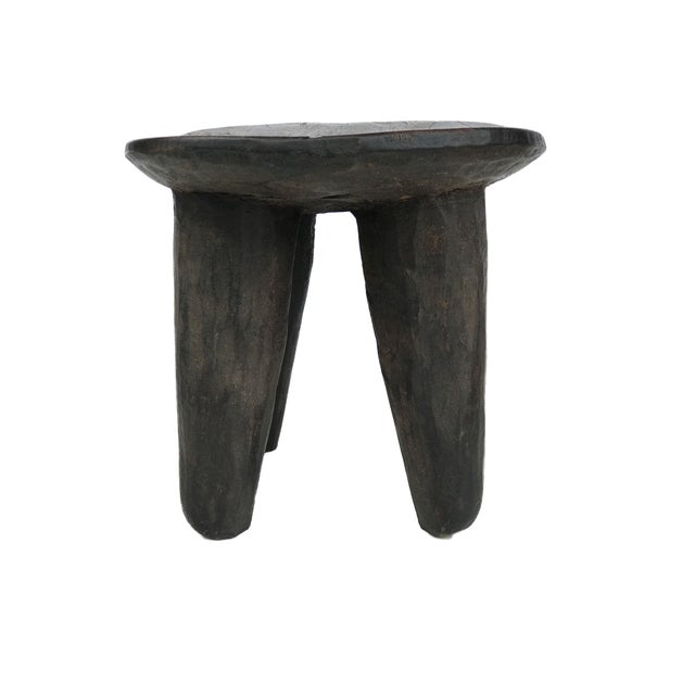 """African Old Senufo Wood Milk Stool I . Coast 12"""" W by 8"""" H For Sale - Image 4 of 7"""