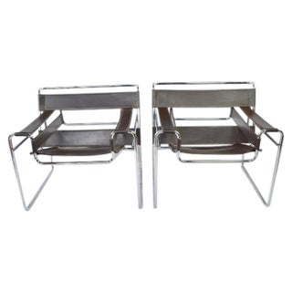 ReproductionWassily Chairs by Marcel Breuer - Pair For Sale
