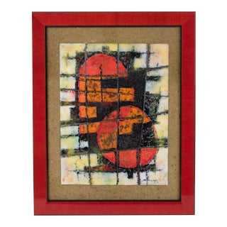 Brutalist Abstract Enamel Mounted Wall Panel Plaque Artwork For Sale