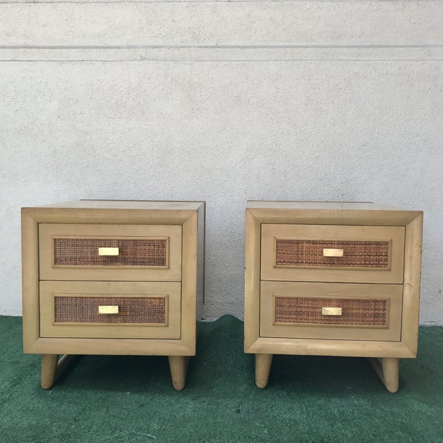 Grand Rapids Mid-Century 2 Drawer Nightstands - A Pair - Image 3 of 7