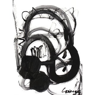 "Lesley Grainger ""Noir Et Blanc Nombre 2"" Original Abstract Painting For Sale"