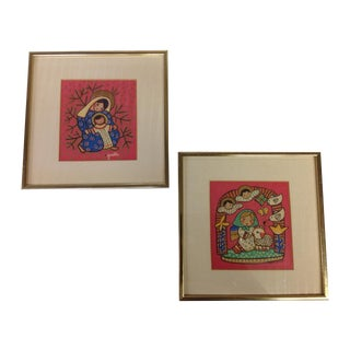 Gisella Loeffler Mid-Century Prints - A Pair For Sale