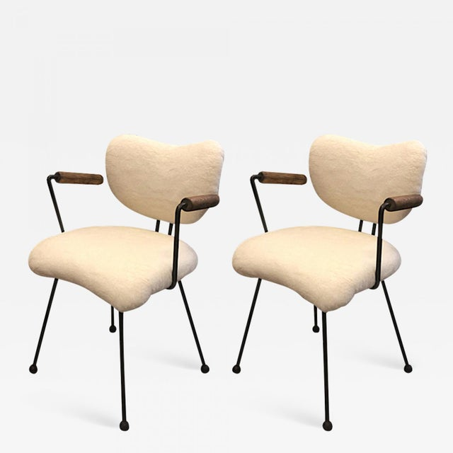 Colette Gueden Attributed Ant Shaped Witty Pair of Chairs For Sale - Image 10 of 10