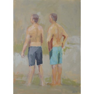 Swimming at the Falls by Anne Carrozza Remick For Sale