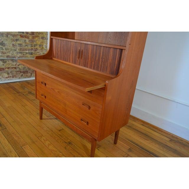 Bornholm Danish Modern Teak Secretary/Bookcase For Sale - Image 5 of 6