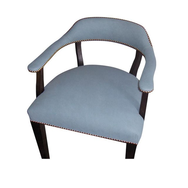 """Blue Custom to Order """"The Color Hues"""" Collection Leather Chair For Sale - Image 8 of 9"""