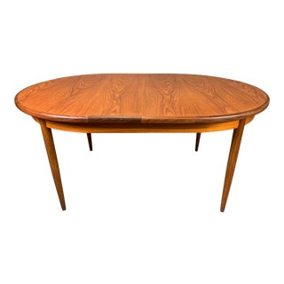 Vintage Mid Century Modern Teak Oval Dining Table by G Plan For Sale
