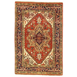 "Pasargad DC Indo Serapi Hand-Knotted Rug - 4' X 5'11"" For Sale"