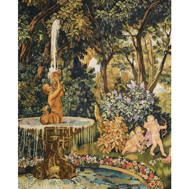 """Traditional Le Printemps From the Series """"Les Enfants Jardiniers"""" Tapestry For Sale - Image 3 of 6"""