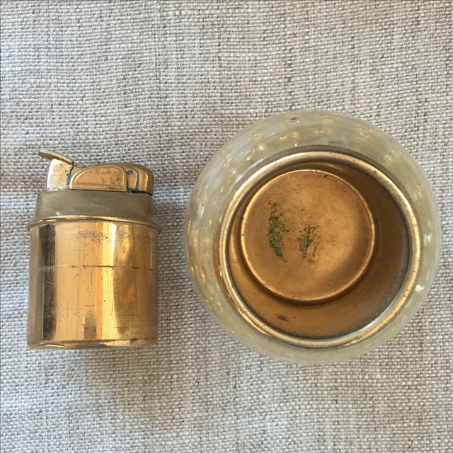 Vintage Murano Glass Gold Lighter For Sale - Image 5 of 7