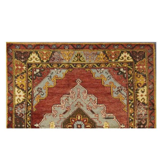 Islamic Vintage Turkish Oushak Rug - 4'8'' x 11'3'' For Sale - Image 3 of 3