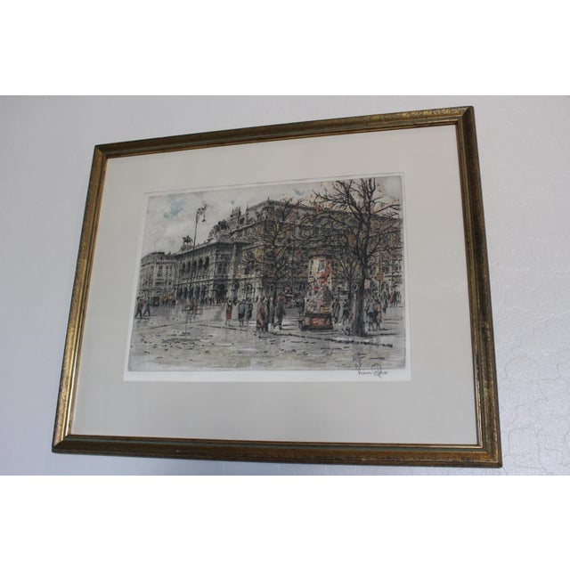 Realism Hans Figura Aquatint on Silk For Sale - Image 3 of 11
