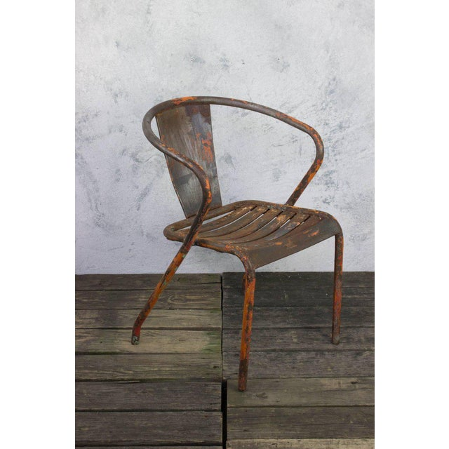 Pair of French Tolix Chairs With Original Paint Finish - Image 5 of 11
