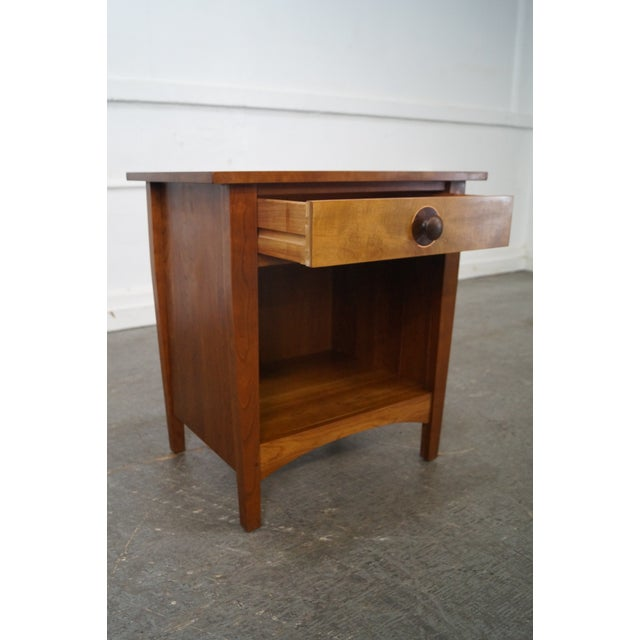 Stickley Mission Style Solid Cherry Nightstand - Image 8 of 10
