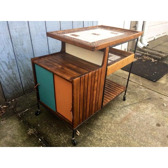 Arthur Umanoff Mid-Century Bar Cart For Sale - Image 10 of 11