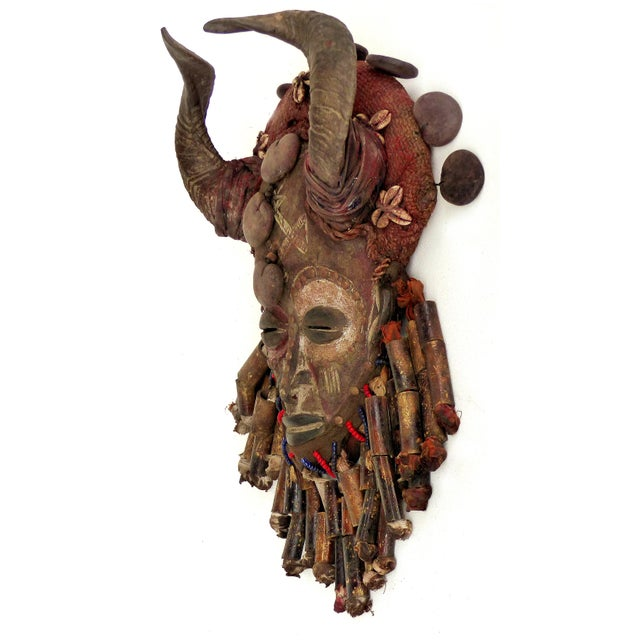 Offered for sale is a decorative carved mask from the Bamileke people of Cameroon, Africa, This interesting and unusual...