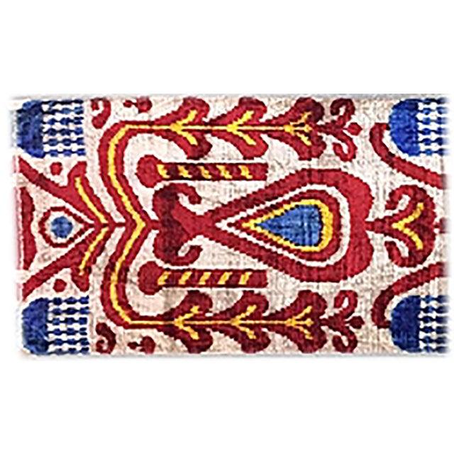 Bohemian Silk Velvet Ikat Pillow - Image 1 of 2