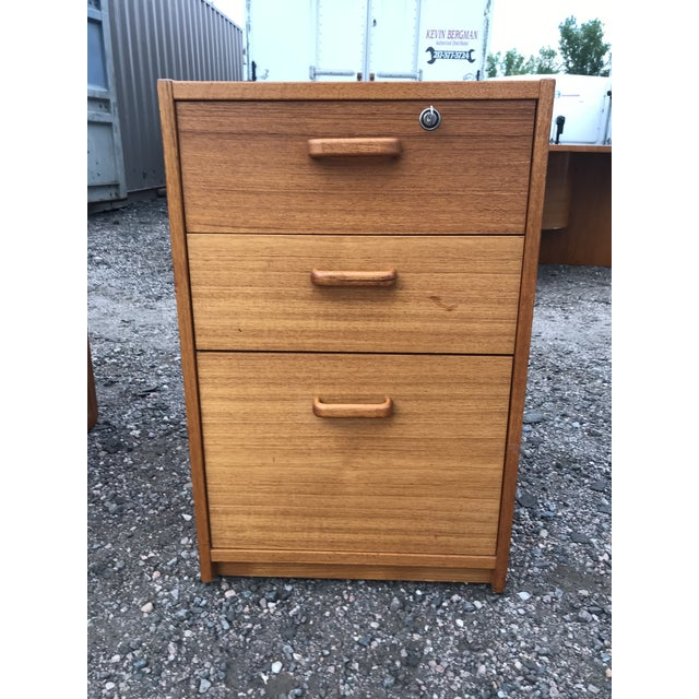 Danish Teak File Cabinet on Casters by Jesper For Sale In Denver - Image 6 of 13