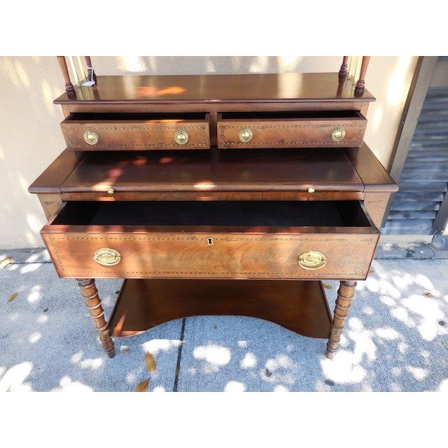 Antique English Mahogany Desk - Image 6 of 7