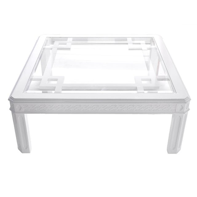 White Chippendale-Style Coffee Table - Image 6 of 6