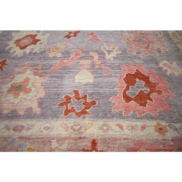 Early 21st Century Contemporary Turkish Oushak Rug With Modern Colors - 8′ × 9′7″ For Sale - Image 5 of 9
