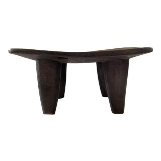 "African Old Senufo Wood Milk Stool I. Coast 16.5"" W For Sale"