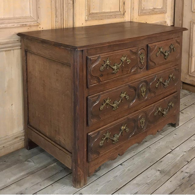 Louis XIV 19th Century French Louis XIV Walnut Commode For Sale - Image 3 of 13