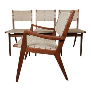 Jens Risom Designed Chairs For Knoll - Set of 4 For Sale
