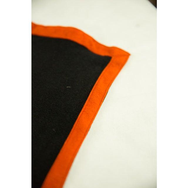 Old New House Vintage Black and Orange Sorority Felt Banner For Sale - Image 4 of 6
