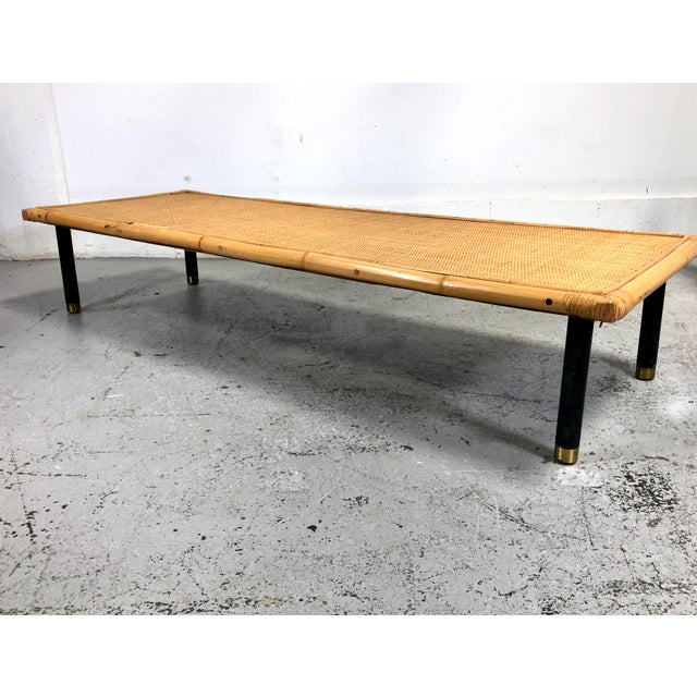 Mid Century Modern Ficks Reed Bamboo / Rattan Benches For Sale - Image 9 of 13