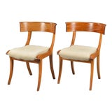 Image of Klismo Side Chairs- A Pair For Sale