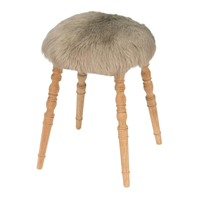 Sarreid Ltd 'Winoma' Beige Stool For Sale