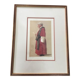 Original 1888 Vanity Fair Print Red Robed Judge ~ Sir Archibald Leven Smith For Sale