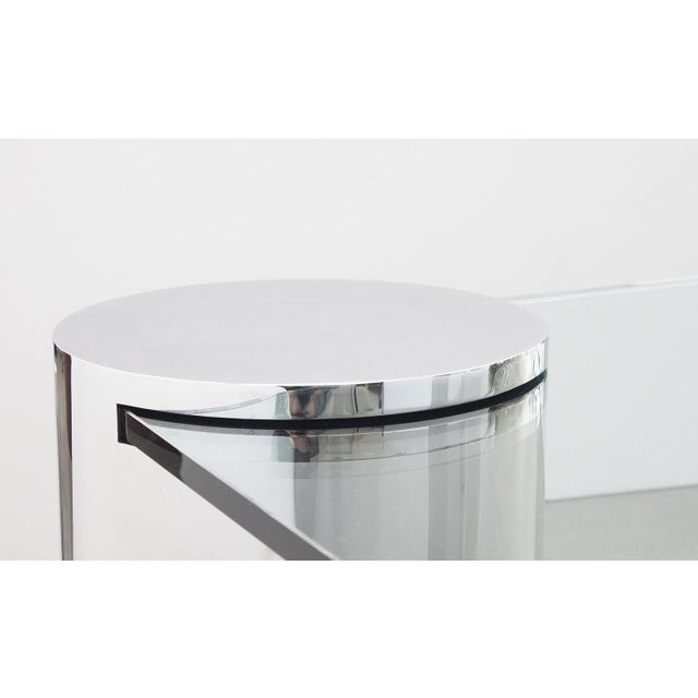 Polished Steel Cantilever Coffee Table - Image 10 of 11