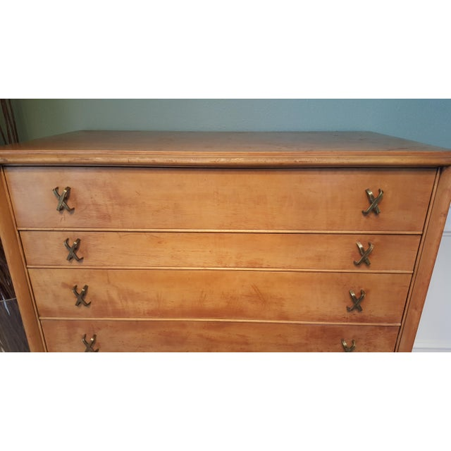 Paul Frankl 7Drawer Chest for Johnson Furniture Co. For Sale - Image 5 of 11